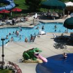 Outside pool at Great Wolf Lodge