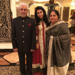 With my wife and daughter in law in the lobby of Taj Krishna in Hyderabad