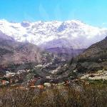 View from the terrace towards Toubkal