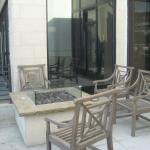 Firepit at outdoor seating