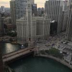 View of the Chicago River and Wrigley Building from my room.