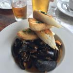 BEST MUSSLES I HAVE EVER HAD! The in-house brew is also very well priced for the quality and gre