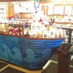 the bar is a boat! (I love hokey themed stuff.)