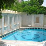 The swimming pool, small but clean and quiet
