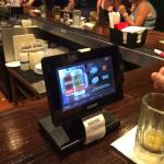 Chili's. Outside, the bar and table ordering screens.
