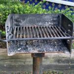 grill in coutryard