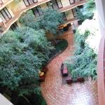 From our 5th floor walkway looking down on lobby area