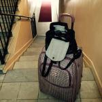 Not fun flight of stairs with 2 suitcases