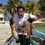 Catch of the day!! Fresh Lobster
