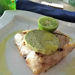 Yummy grilled fish at the beach club