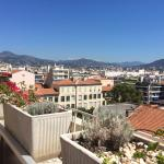 View from roofterrace towards Nice Gare SNCF