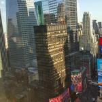 View of Times Square from our room, 37th floor, Marriott Marquis