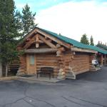 Hibernation station is close to yellowstone west entrance. Lade of several little cabines