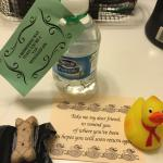 Welcome gifts we received at Sleep Inn, Staunton, VA