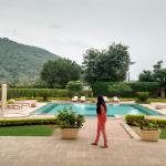 The perfectly located swimming pool in solitude .. withthe view of lush green mountains all arou