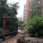 walk on river side behind the condo portion
