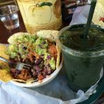 Cadillac Rice Bowl and Green Machine Smoothie
