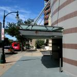 This is the main front entrance to the Double Tree Hotel in Silver Spring.