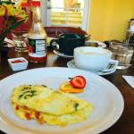 All inclusive breakfast with made to order omelettes and waffles
