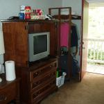 TV and Closet behind Door