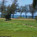 View from lanai across the path leading to the beach