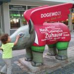 I like the painted Rhino all over the city. withing the ring