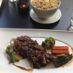 Delicious (but a bit chewy) beef
