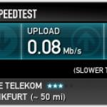WLAN was very slow