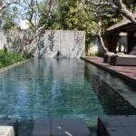 Big and warm private pool in our villa!