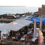 View of the boat jetty and restaurants from one of our terraces