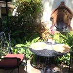 Courtyard seating for Breakfast