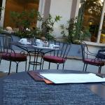 Outdoor seating at restaurant