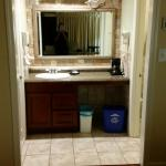Our room looked recently updated with beautiful hardwood floors and counter tops. So clean and b