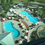 View from room 1106- beautiful pool area!
