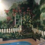 These pictures were of the murals in the pool and jacuzzi area of the hotel.