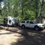 First camping trip with our new trailer at Swan Lake Trading Post & Campground