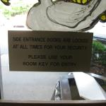 Note about the secure doors