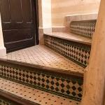 Traditional stairs up to the terrace