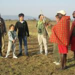 Walking safari with archery lesson