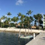 View back from the dock to the private beach at the Amara Cay