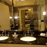 sinks in bathroom in basic suite at the Palazzo