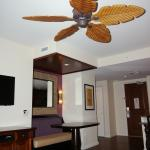 1 bedroom city view suite, dining area in nook as well as at kitchen bar