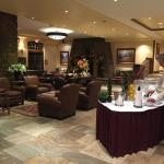 Lobby with complimentary spa water and ice tea