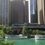 Hotel from across the Chicago River