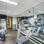 The Fitness Center includes a elliptical, treadmill, and stair machine.