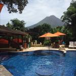Pool and volcano view