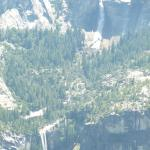 Looking down to the Ahwahnee from Glacier Point