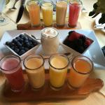The juice flight that accompanies breakfast. My favorite part of the ILW.