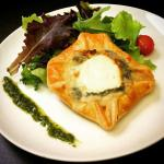 """Goat Cheese puff pastry with """"Garrigue"""" herbs"""
