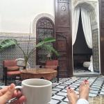 My favorite spot in the Riad to drink my coffee.